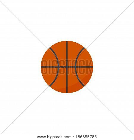 Flat Basketball Element. Vector Illustration Of Flat Basket  Isolated On Clean Background. Can Be Used As Basket, Basketball And Ball Symbols.