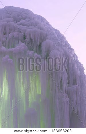 the frozen blocks of ice icicles stalactites