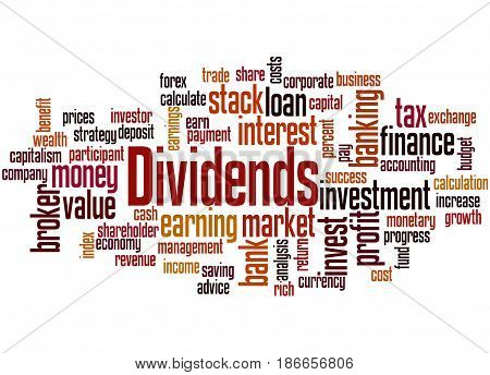 Dividends, Word Cloud Concept 5