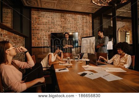 Startup Team Working And Planning In The Meeting