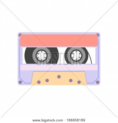 Audio tape isolated on white background - vector illustration