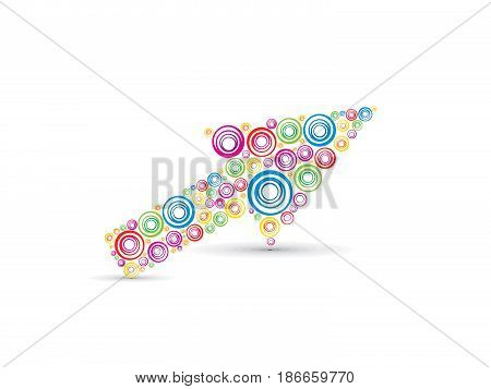abstract artistic colorful circle arrow vector illustration