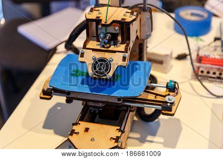 High-tech 3d printer for creating different models and things