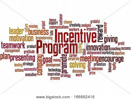 Incentive Program, Word Cloud Concept