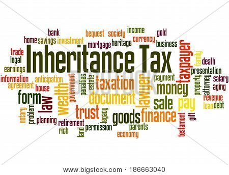 Inheritance Tax, Word Cloud Concept