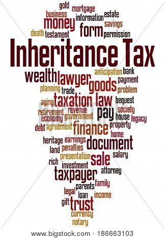 Inheritance Tax, Word Cloud Concept 2