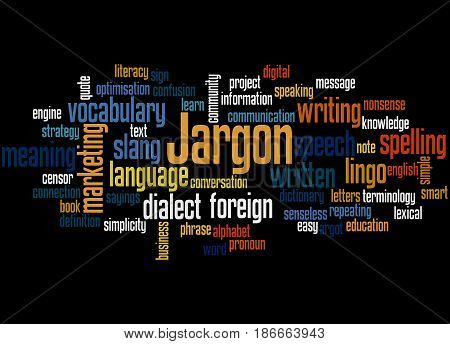 Jargon, Word Cloud Concept 3