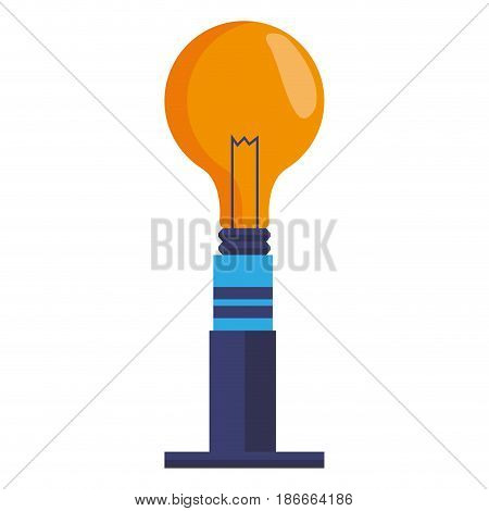 ceiling bulb light electricity energy vector illustration