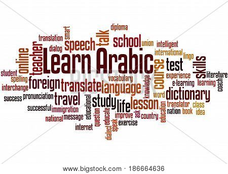 Learn Arabic, Word Cloud Concept 5