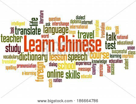 Learn Chinese, Word Cloud Concept 2