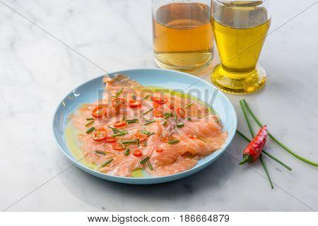 smoked salmon marinated