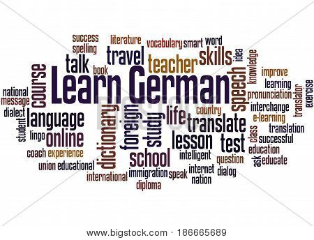 Learn German, Word Cloud Concept 3