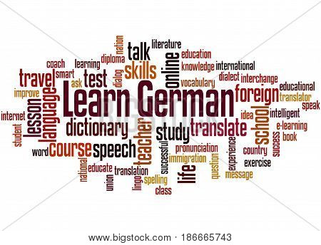 Learn German, Word Cloud Concept 4