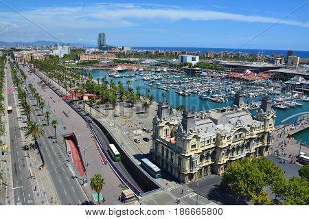 Barcelona Marina Top View