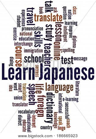 Learn Japanese, Word Cloud Concept 2