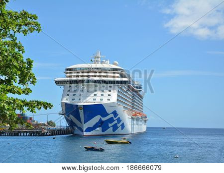 Royal Princess Ship In Dominica
