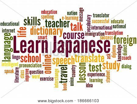 Learn Japanese, Word Cloud Concept 5