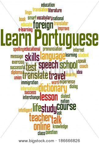Learn Portuguese, Word Cloud Concept 5