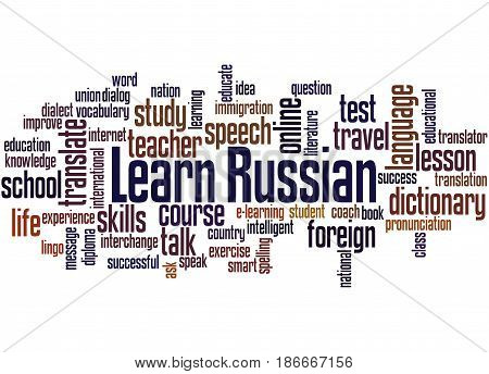 Learn Russian, Word Cloud Concept 5