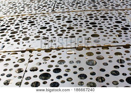Texture of stainless steel, modern look. Foto