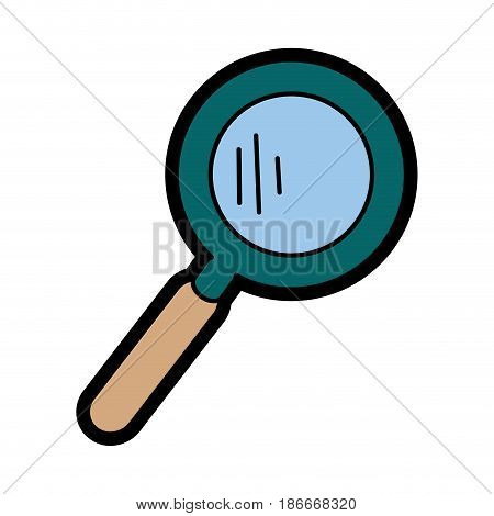 magnifying glass icon over white background. colorful design. vector illustration