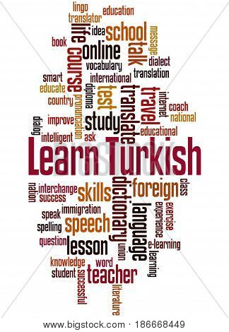 Learn Turkish, Word Cloud Concept 4