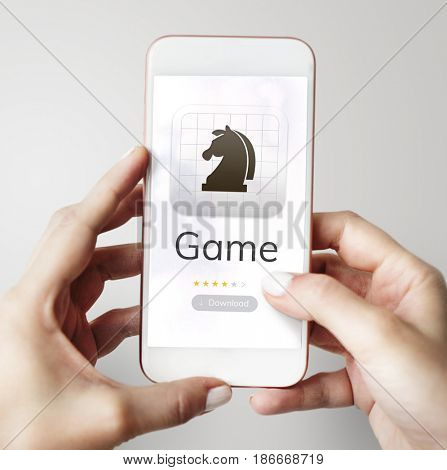Digital device with game download on the website
