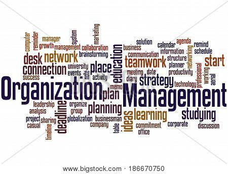 Organization Management, Word Cloud Concept 2