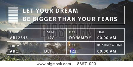 Let Your Dream Be Bigger Than The Fear Word Motivation