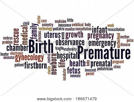 Premature Birth, Word Cloud Concept 2