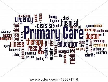 Primary Care, Word Cloud Concept
