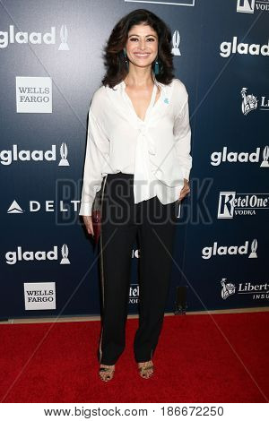 LOS ANGELES - APR 1:  Pooja Batra at the 28th Annual GLAAD Media Awards at Beverly Hilton Hotel on April 1, 2017 in Beverly Hills, CA