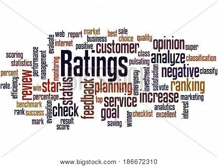 Ratings, Word Cloud Concept 2
