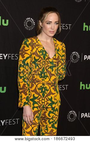 LOS ANGELES - MAR 18:  Caity Lotz at the 34th Annual PaleyFest Los Angeles - The CW at Dolby Theater on March 18, 2017 in Los Angeles, CA
