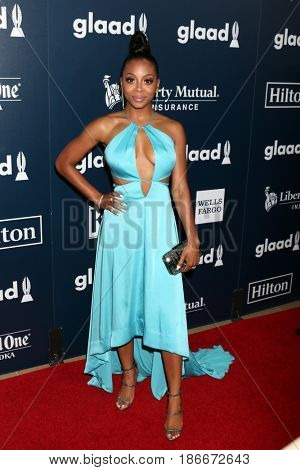 LOS ANGELES - APR 1:  Bresha Webb at the 28th Annual GLAAD Media Awards at Beverly Hilton Hotel on April 1, 2017 in Beverly Hills, CA