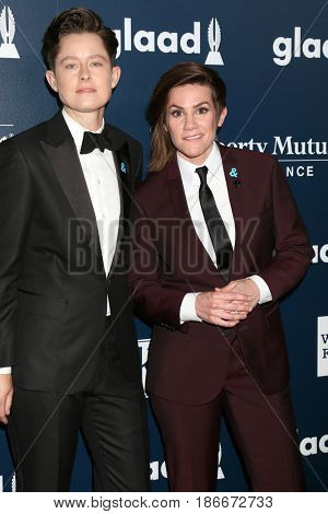 LOS ANGELES - APR 1:  Rhea Butcher, Cameron Esposito at the 28th Annual GLAAD Media Awards at Beverly Hilton Hotel on April 1, 2017 in Beverly Hills, CA
