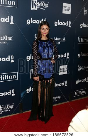 LOS ANGELES - APR 1:  Victoria Justice at the 28th Annual GLAAD Media Awards at Beverly Hilton Hotel on April 1, 2017 in Beverly Hills, CA