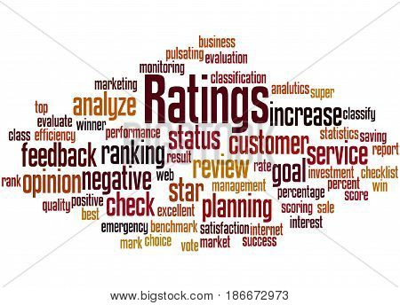 Ratings, Word Cloud Concept 7