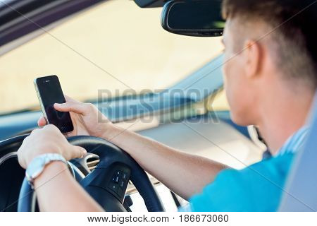 Driving teenager driver telephone distracted mobile phone car