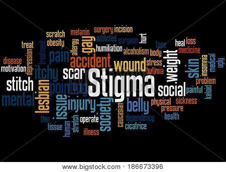 Stigma, Word Cloud Concept 5