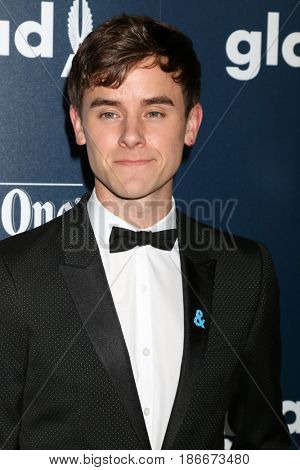 LOS ANGELES - APR 1:  Connor Franta at the 28th Annual GLAAD Media Awards at Beverly Hilton Hotel on April 1, 2017 in Beverly Hills, CA