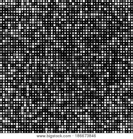 Banner Grey White Squares With Transparency. Poster Abstract Tiles. White Background. Halftone Effec