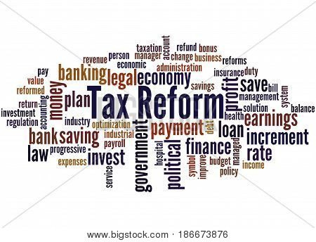 Tax Reform, Word Cloud Concept 2