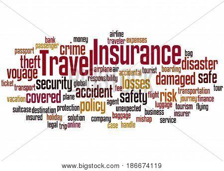 Travel Insurance, Word Cloud Concept