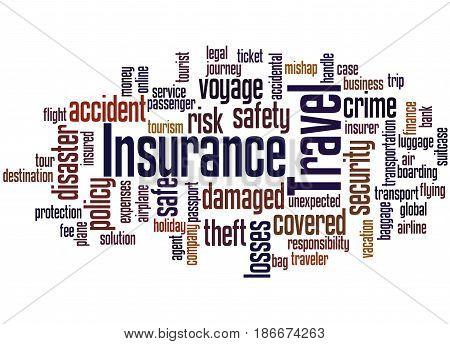 Travel Insurance, Word Cloud Concept 4