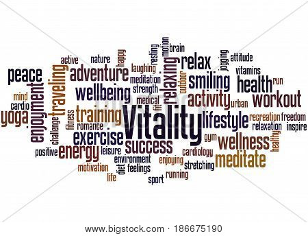 Vitality, Word Cloud Concept 2