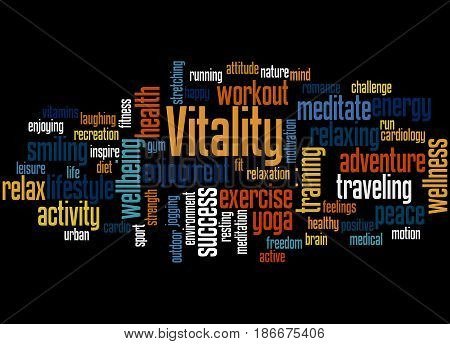 Vitality, Word Cloud Concept 3