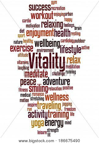 Vitality, Word Cloud Concept 5