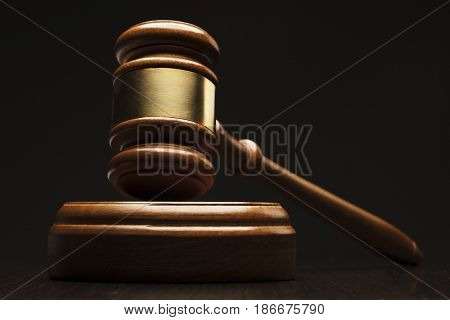 Closeup of wooden gavel