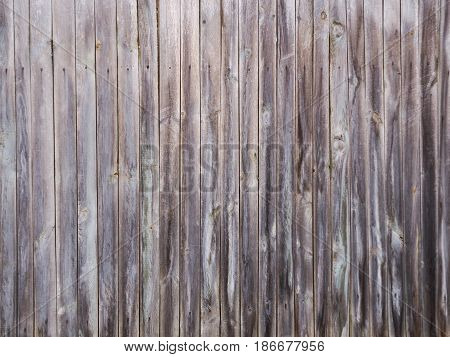 Unpainted fence Light Wood panel background. Old vintage planked vertical wooden texture. Boards empty clear background for flat lay photo design